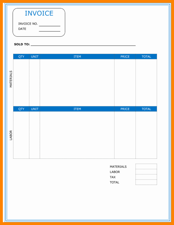 Independent Contractor Invoice Template Pdf Best Of 5 Independent Contractor Invoice Template Free