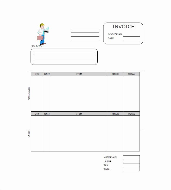 Independent Contractor Invoice Template Pdf Luxury Contractor Invoice Templates 10 Free Excel Word Pdf