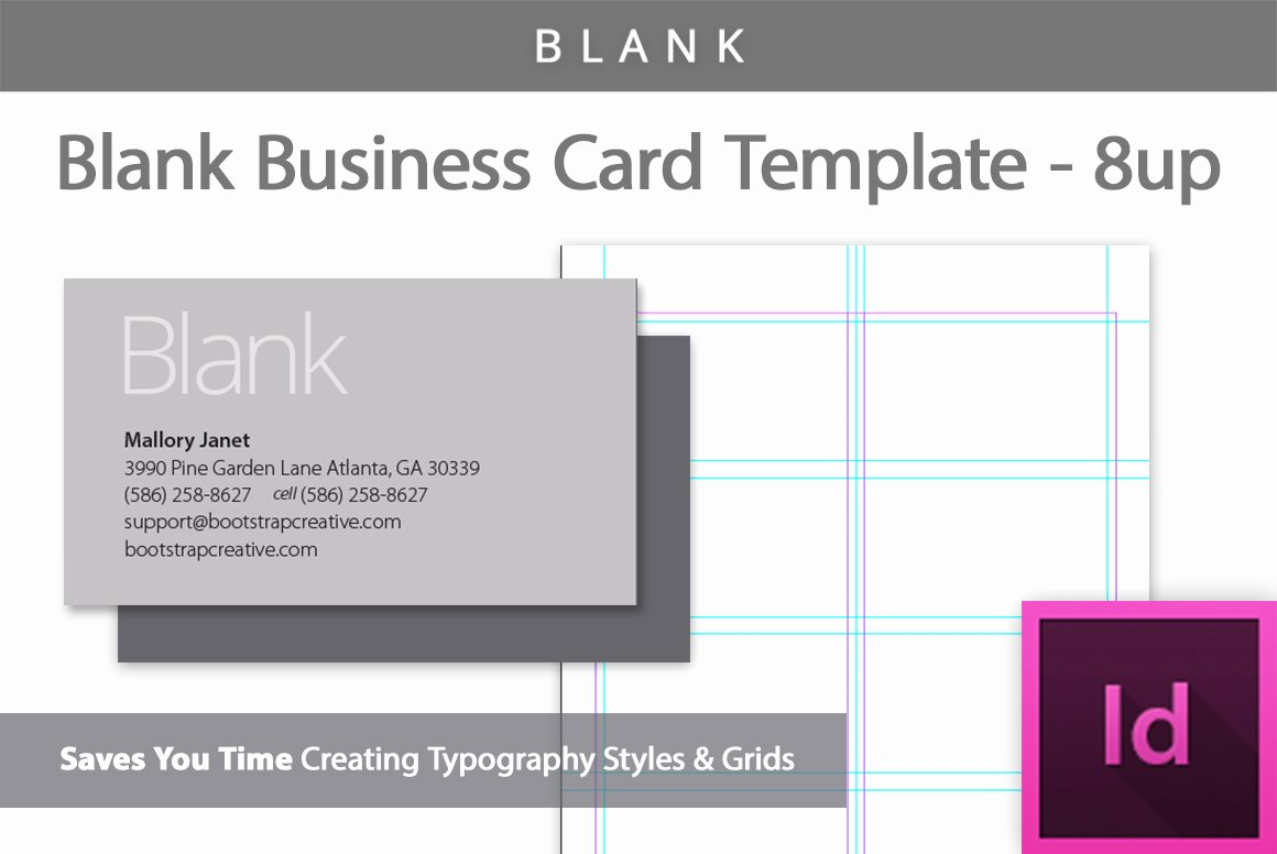 Indesign Business Card Template Free Awesome Blank Business Card Template 8 Up Business Card