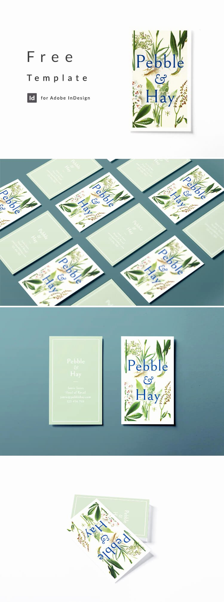 Indesign Business Card Template Free Awesome Vintage Business Card Template for Indesign