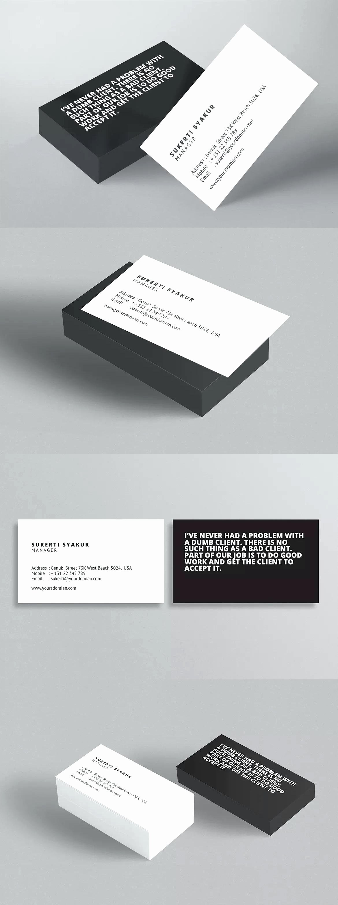 Indesign Business Card Template Free Beautiful Business Card Template Indesign