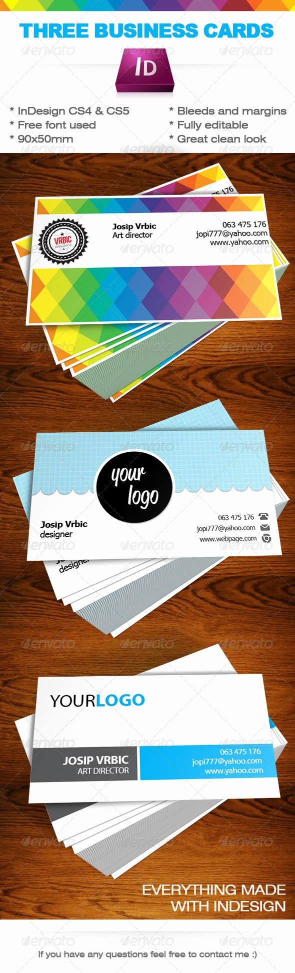 Indesign Business Card Template Free Beautiful Business Cards Indesign Templates