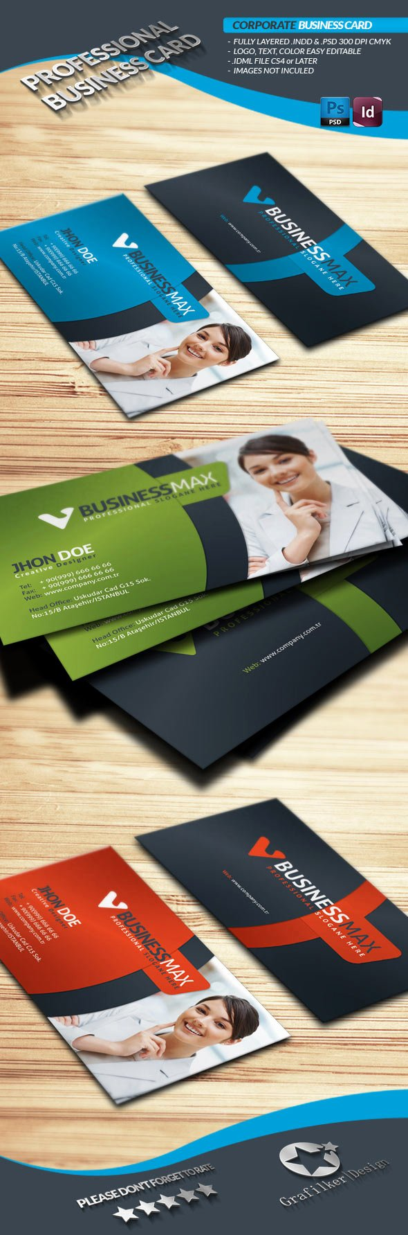 Indesign Business Card Template Free Fresh 15 Premium Business Card Templates In Shop