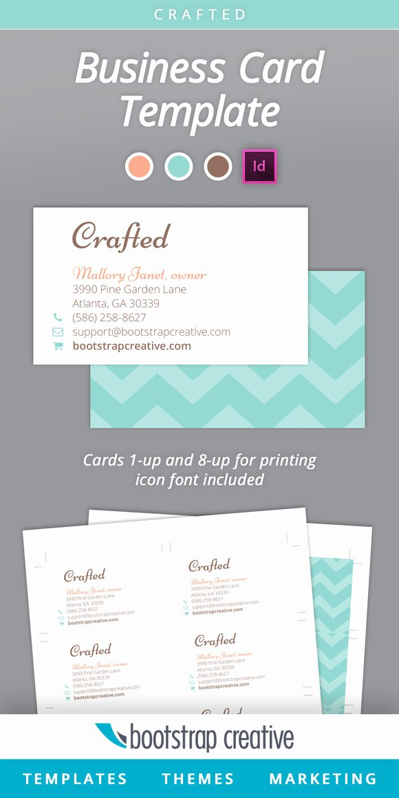 Indesign Business Card Template Free Lovely Business Card Template Indesign 8 Up Business Card
