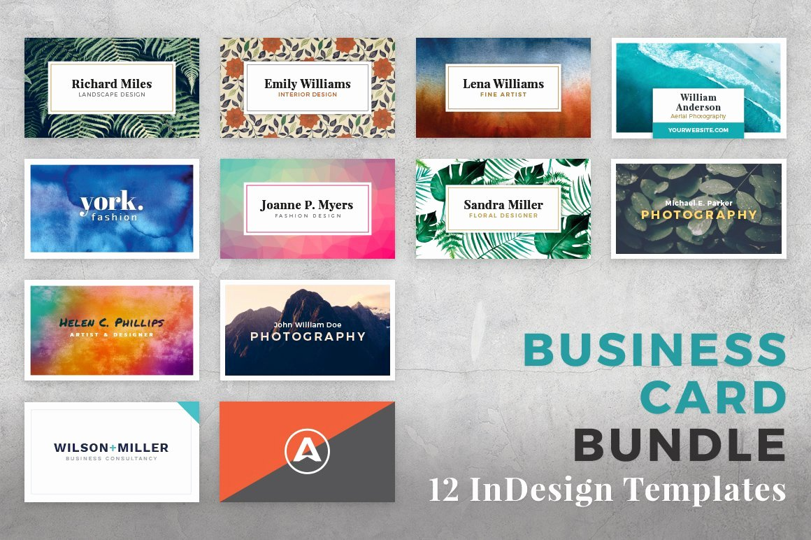 Indesign Business Card Template Free Luxury Business Card Bundle for Indesign Business Card