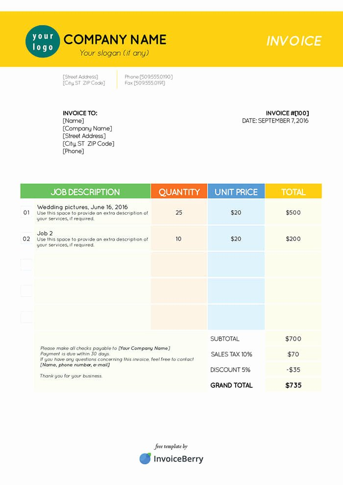 Indesign Invoice Template Free Beautiful Free Indesign Invoice Templates