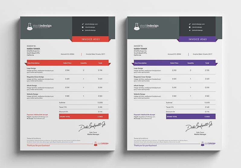 Indesign Invoice Template Free Beautiful Graphic Design Invoice Template Indesign