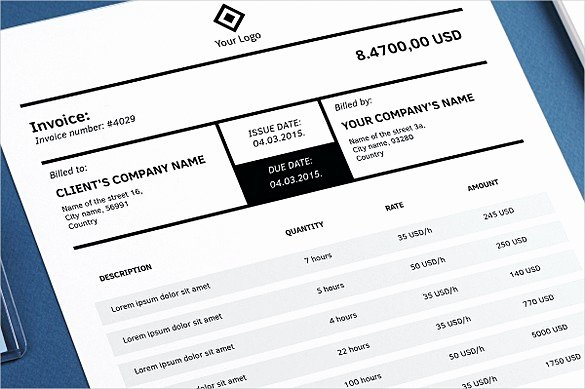 Indesign Invoice Template Free Beautiful Indesign Invoice Template