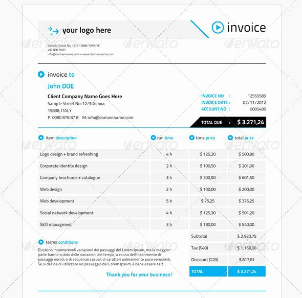 Indesign Invoice Template Free Best Of 21 Useful Invoice Indesign Templates – Design Freebies