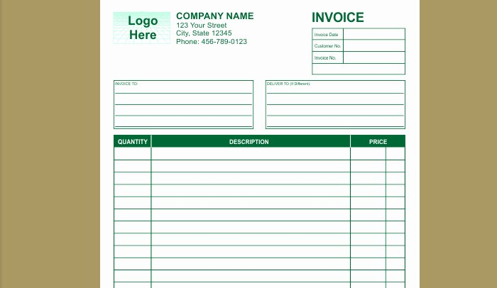 Indesign Invoice Template Free Best Of 9 Best Of Rent Receipt Template Indesign Cash