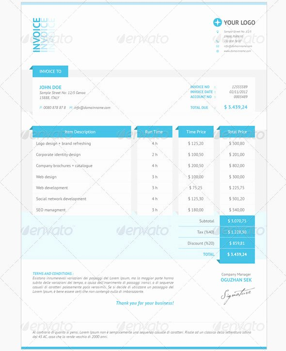 Indesign Invoice Template Free Best Of Graphic Design Invoice Template Indesign
