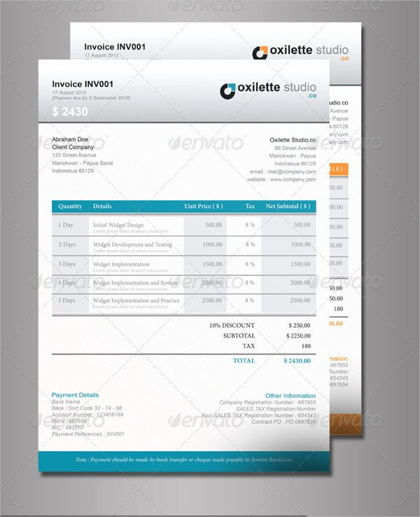 Indesign Invoice Template Free Fresh 6 Indesign Invoice Templates Free Download