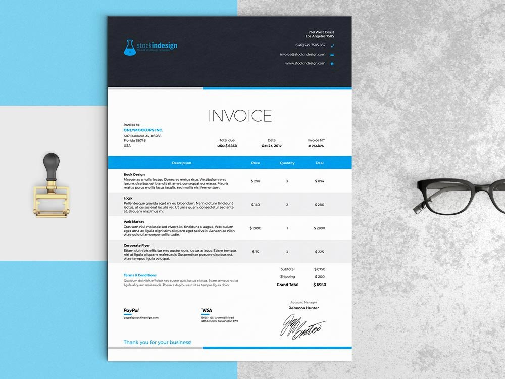 Indesign Invoice Template Free Fresh Elegant Invoice Template Indesign Template