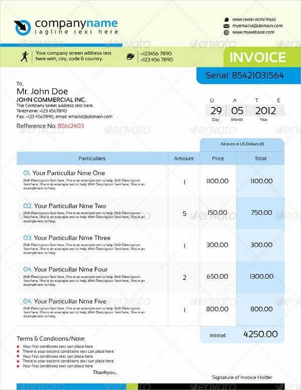 Indesign Invoice Template Free Inspirational Indesign Invoice Template 7 Free Indesign format