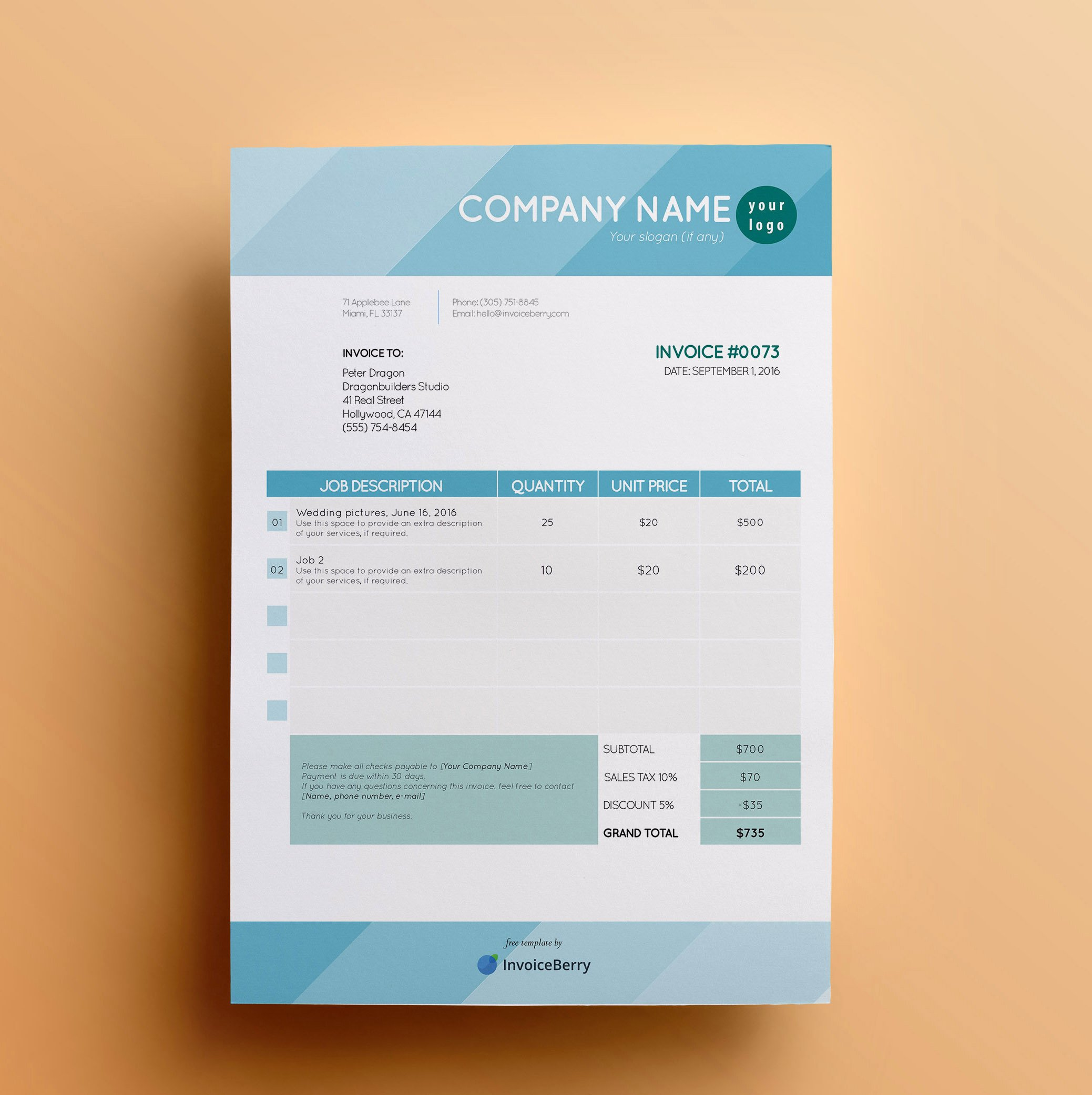 Indesign Invoice Template Free New Free Invoice Templates by Invoiceberry the Grid System