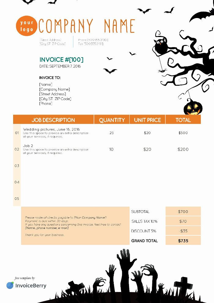 Indesign Invoice Template Free Unique Free Indesign Invoice Templates