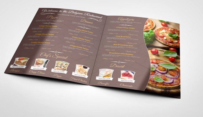 Indesign Menu Template Free Awesome 6 Indesign Menu Template