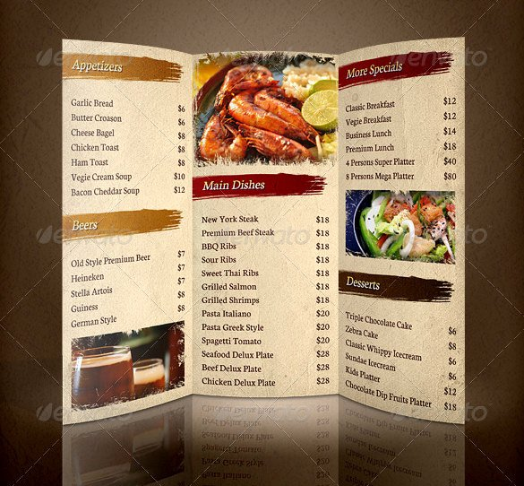Indesign Menu Template Free Awesome Restaurant Brochure Templates Csoforumfo