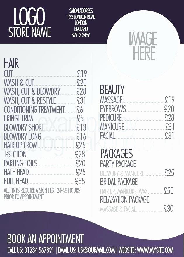 Indesign Menu Template Free Beautiful Indesign Price List Template