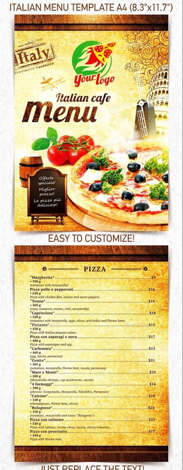 Indesign Menu Template Free Elegant 40 Psd & Indesign Food Menu Templates for Restaurants