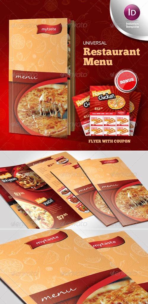 Indesign Menu Template Free Fresh Graphicriver Universal Restaurant Menu Indesign Template