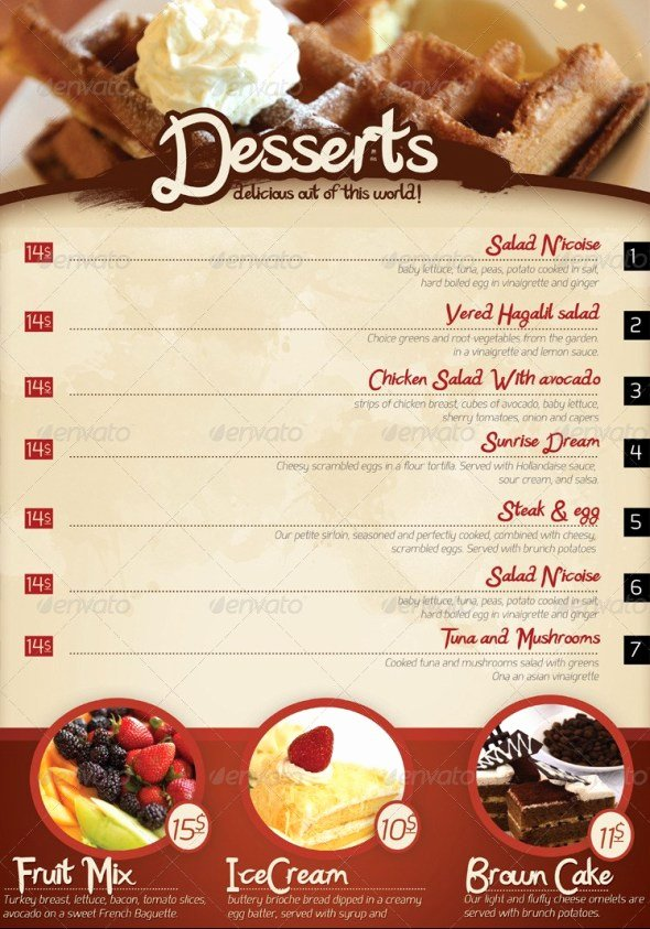 Indesign Menu Template Free Inspirational 40 Psd & Indesign Food Menu Templates for Restaurants