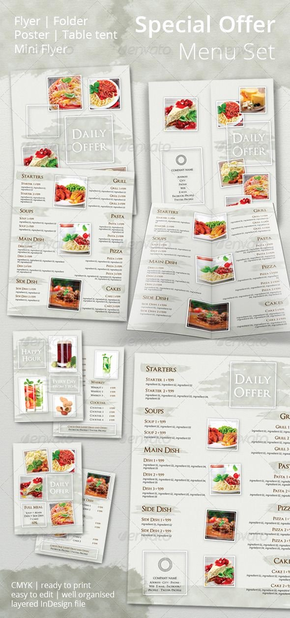 Indesign Menu Template Free Luxury 1000 Images About Menu Template On Pinterest
