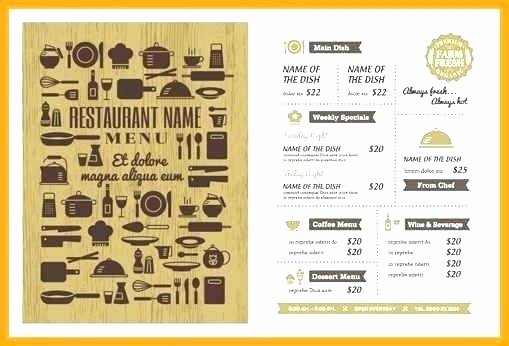 Indesign Menu Template Free Luxury Adobe Indesign Menu Template