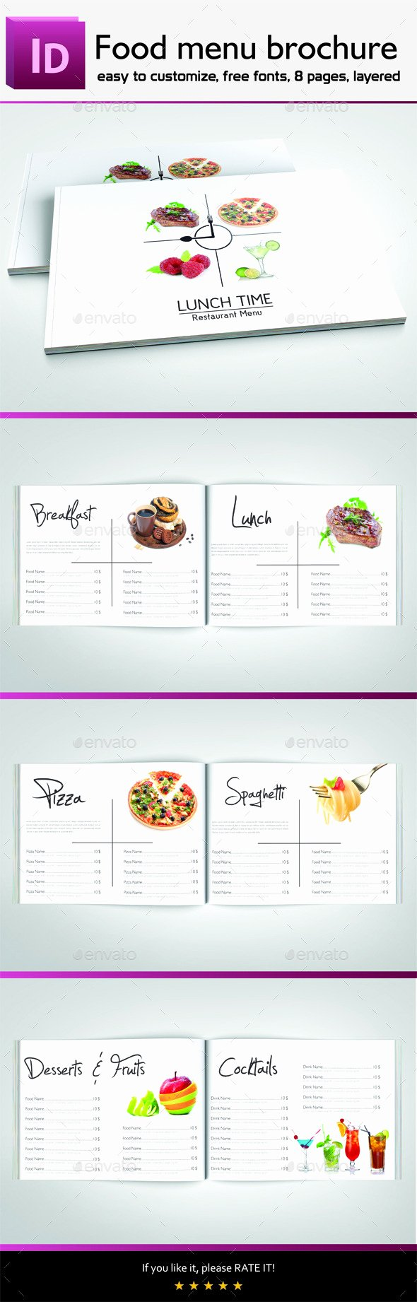 Indesign Menu Template Free Luxury Indesign Templates for Restaurant Menu for Free Dondrup