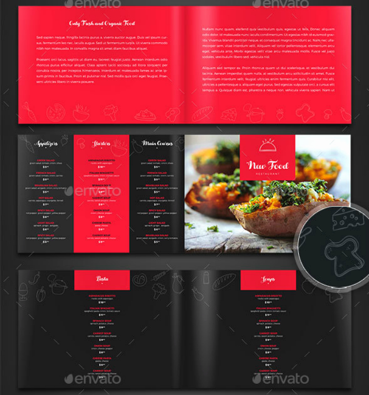 Indesign Menu Template Free New 27 Indesign Menu Templates