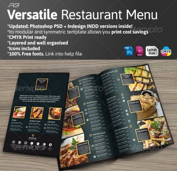 Indesign Menu Template Free New 40 Psd & Indesign Food Menu Templates for Restaurants