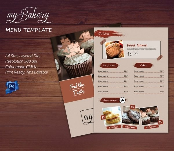 Indesign Menu Template Free Unique Bakery Menu Template – 30 Free Word Psd Pdf Eps