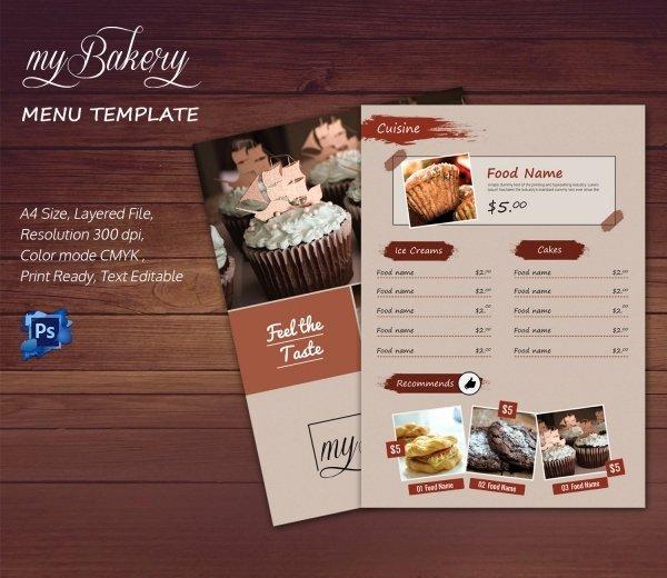 Indesign Menu Template Free Unique Bakery Menu Template – 30 Free Word Psd Pdf Eps