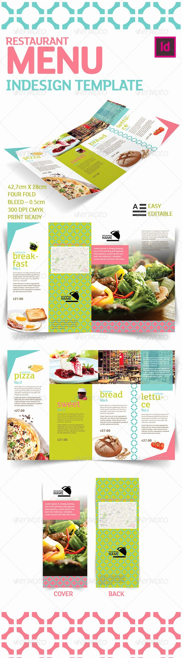 Indesign Menu Template Free Unique Restaurant Menu Indesign Template