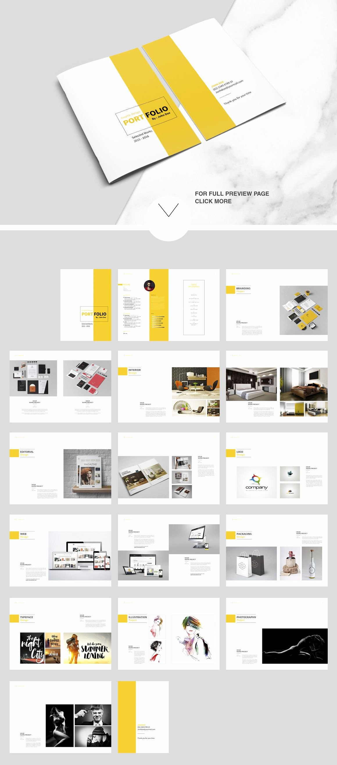 Indesign Portfolio Template Free Best Of Indesign Portfolio Brochure Vol 2 by Tujuhbenua On