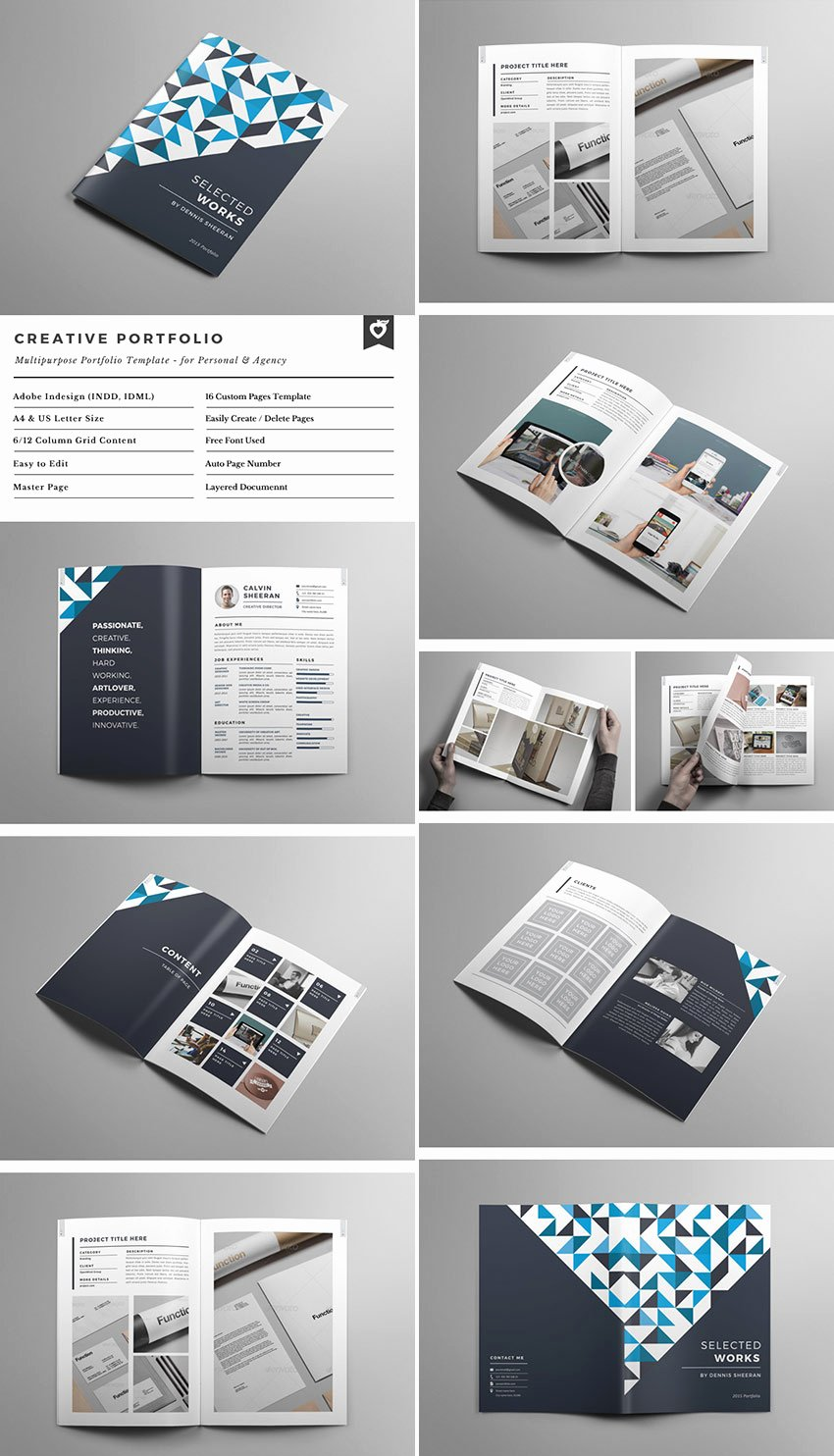 Indesign Portfolio Template Free Elegant 20 Best Indesign Brochure Templates for Creative