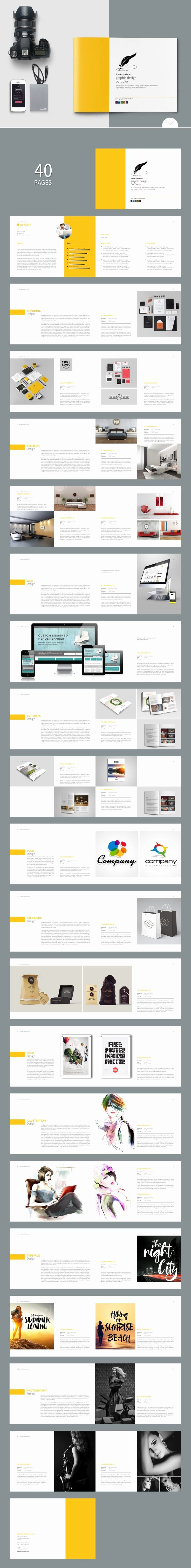Indesign Portfolio Template Free Elegant Free Indesign Portfolio Layout Templates Design Graphic