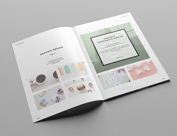 Indesign Portfolio Template Free Elegant Indesign Folio Template Portfolio Brochure Templates 17