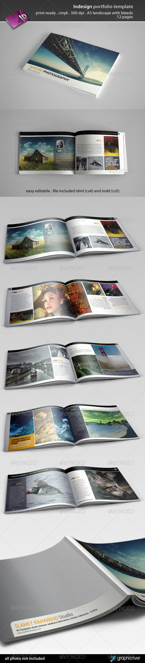 Indesign Portfolio Template Free Elegant Portfolio Template Indesign Free Download Fixride
