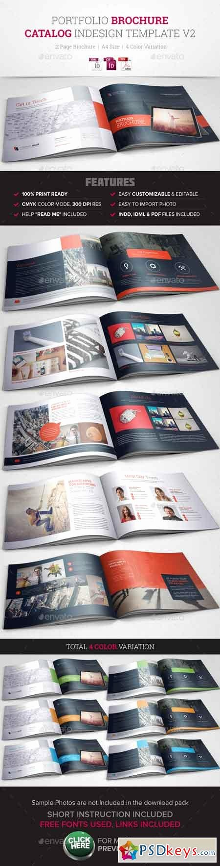 Indesign Portfolio Template Free Inspirational Portfolio Brochure Indesign Template V2 Free