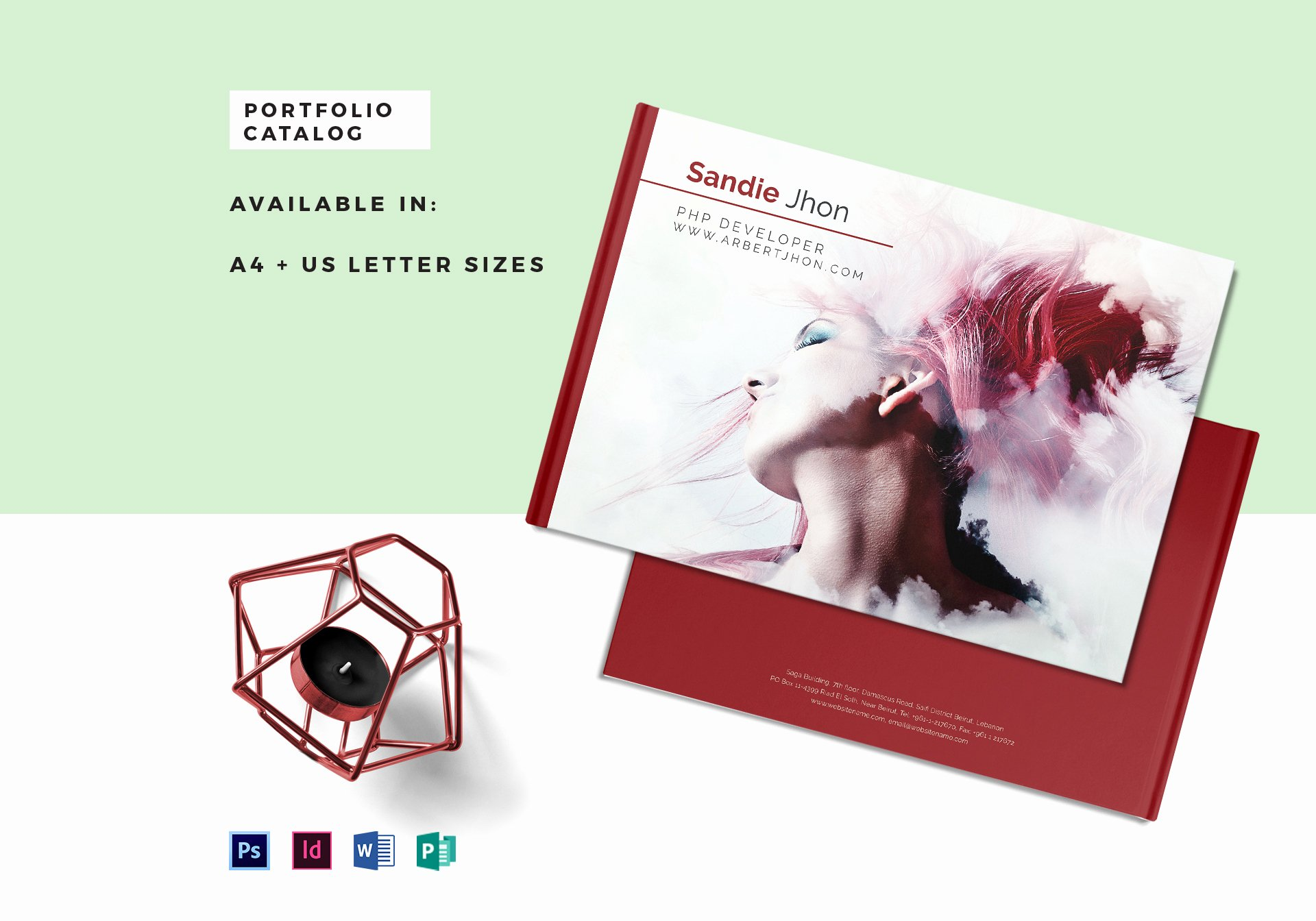 Indesign Portfolio Template Free Luxury Editable Portfolio Catalog Template In Psd Word