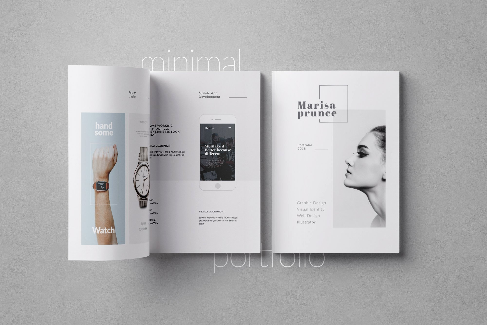 Indesign Portfolio Template Free Luxury Portfolio Brochure Templates Creative Market