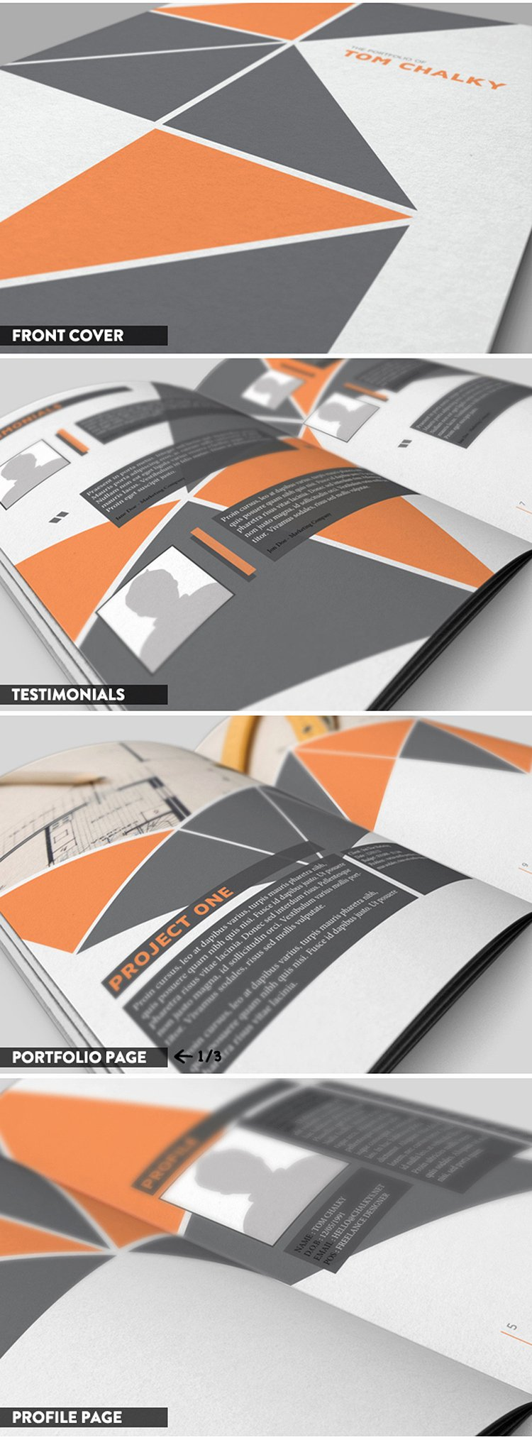 Indesign Portfolio Template Free New Free 16 Page Case Study Portfolio Booklet Download