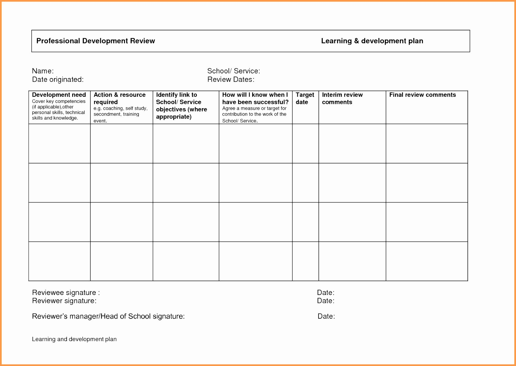 Individual Development Plan Template Awesome Beaufiful Personal Development Plan Template S
