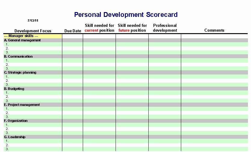 Individual Development Plan Template Excel Elegant 6 Personal Development Plan Templates Excel Pdf formats