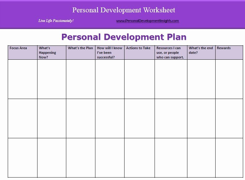 Individual Development Plan Template Excel Inspirational Development Plan Template