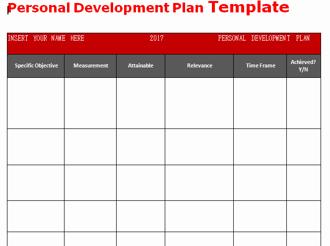 Individual Development Plan Template Excel Lovely Get Personal Development Plan Template Word Microsoft