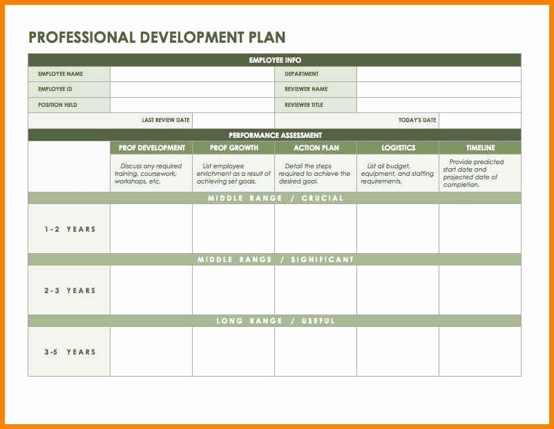 Individual Development Plan Template Excel New 7 Development Plan Template Excel