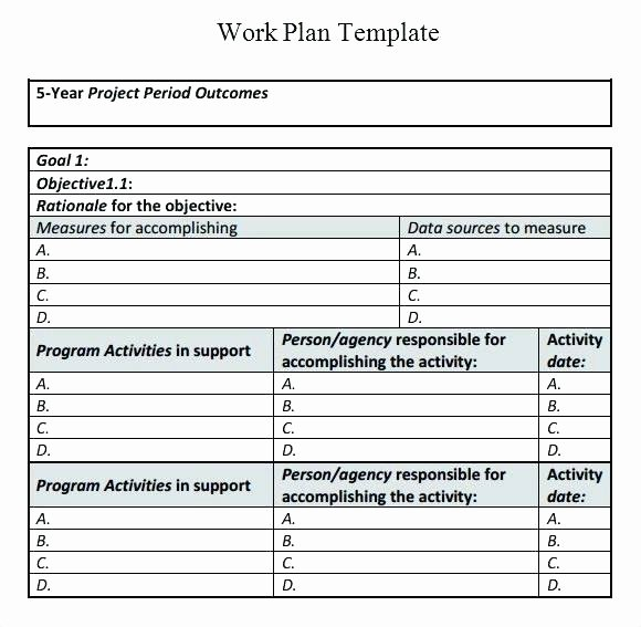 Individual Development Plan Template Excel New Sample Individual Work Plan In Science Template Esp
