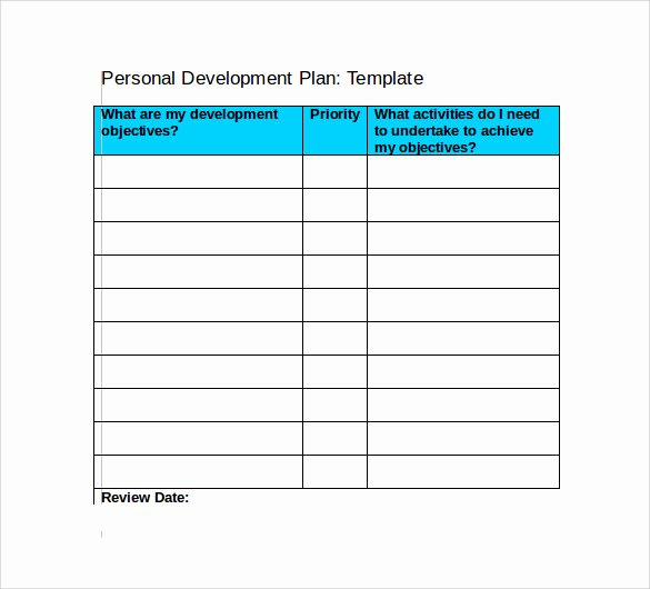 Individual Development Plan Template Excel Unique Development Plan Template